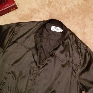 CHALK LINE vtg mens bomber jacket, Justin boots,